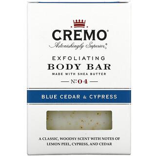 Cremo, Exfoliating Body Bar, No. 4, Blue Cedar & Cypress, 6 oz (170 g)