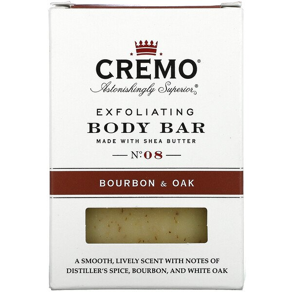 Exfoliating Body Bar, No 8, Made with Shea Butter, Bourbon & Oak, 6 oz (170 g)