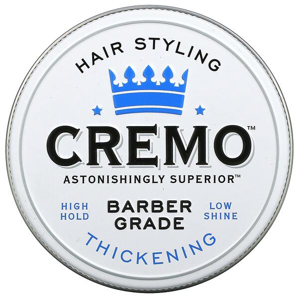 Cremo, Premium Barber Grade Hair Styling Paste, Thickening, 4 oz (113 g)