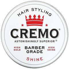 Cremo, 高級理髮師級,頭髮定型髮蠟,光亮,4 盎司(113 克)