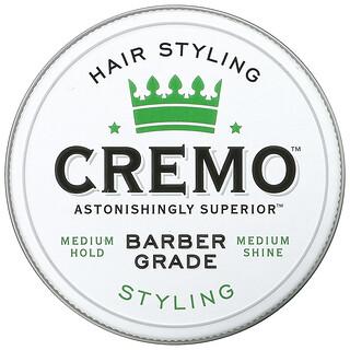 Cremo, Premium Barber Grade Hair Styling Cream, Styling, 4 oz (113 g)