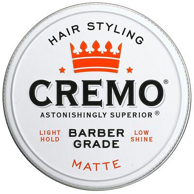 Купить Cremo Premium Barber Grade, Hair Styling Pomade, Matte, 4 oz (113 g)