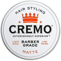 Cremo, 高級理髮師級,頭髮定型髮蠟,啞光,4 盎司(113 克)