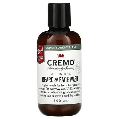 Купить Cremo All-In-One Beard & Face Wash, Cedar Forest Blend, 6 fl oz (177 ml)