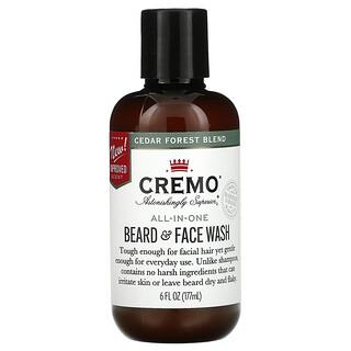 Cremo, All-In-One Beard & Face Wash, Cedar Forest Blend, 6 fl oz (177 ml)