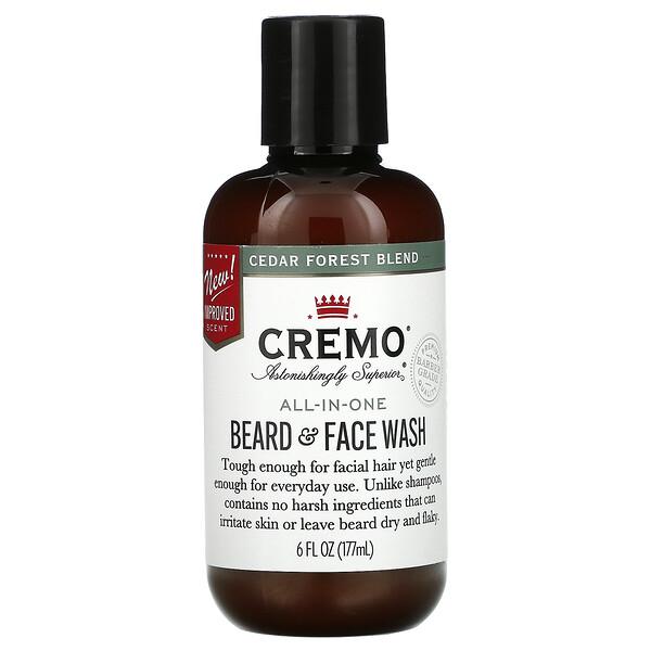 All-In-One Beard & Face Wash, Cedar Forest Blend, 6 fl oz (177 ml)
