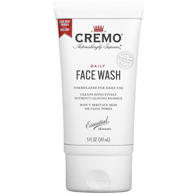 Купить Cremo Daily Face Wash, 5 fl oz (147 ml)