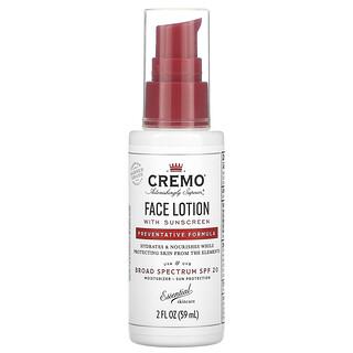 Cremo, Face Lotion with Sunscreen, Preventative Formula, SPF 20, 2 fl oz (59 ml)