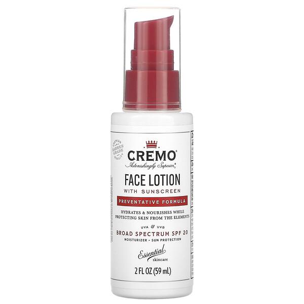 Face Lotion with Sunscreen, Preventative Formula, SPF 20, 2 fl oz (59 ml)