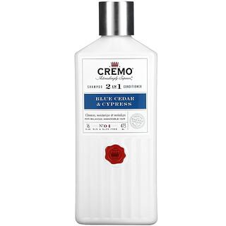 Cremo, 2 In 1 Shampoo Conditioner, No. 04, Blue Cedar & Cypress, 16 fl oz (473 ml)