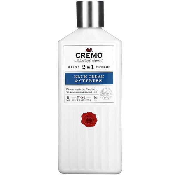 2 In 1 Shampoo Conditioner, No. 4, Blue Cedar & Cypress, 16 fl oz (473 ml)