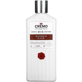 Cremo, 2 In 1 Shampoo & Conditioner, No. 08, Bourbon & Oak, 16 fl oz (473 ml)