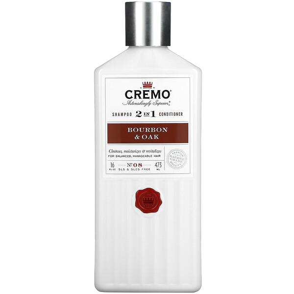 2 In 1 Shampoo & Conditioner, No. 08, Bourbon & Oak, 16 fl oz (473 ml)