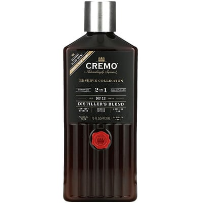Купить Cremo Reserve Blend, 2 in 1 Shampoo & Conditioner, No. 13, Distillers Blend, 16 fl oz (473 ml)