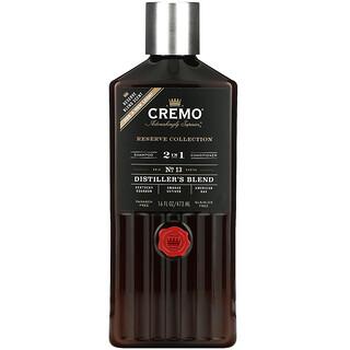 Cremo, Reserve Blend, 2 In 1 Shampoo & Conditioner, No. 13, Distillers Blend, Reserve Blend, 16 fl oz (473 ml)