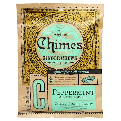 Ginger Chews, Peppermint, 5 oz.