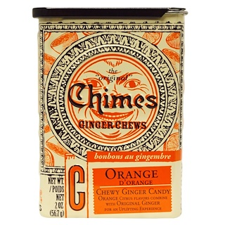 Chimes, Ginger Chews, Orange, 2 oz.