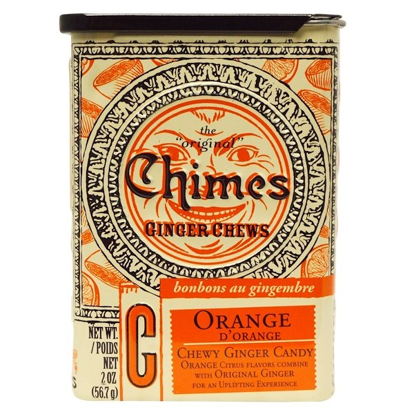 Chimes, Ginger Chews, Orange, 2 oz (56.7 g) (Discontinued Item)