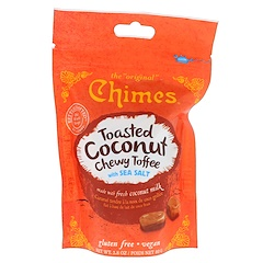 Chimes, Toasted Coconut Chewy Toffee with Sea Salt, 2.8 oz (80 g)
