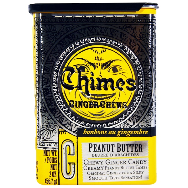 Chimes, Ginger Chews, Peanut Butter, 2 oz (56.7 g) (Discontinued Item)