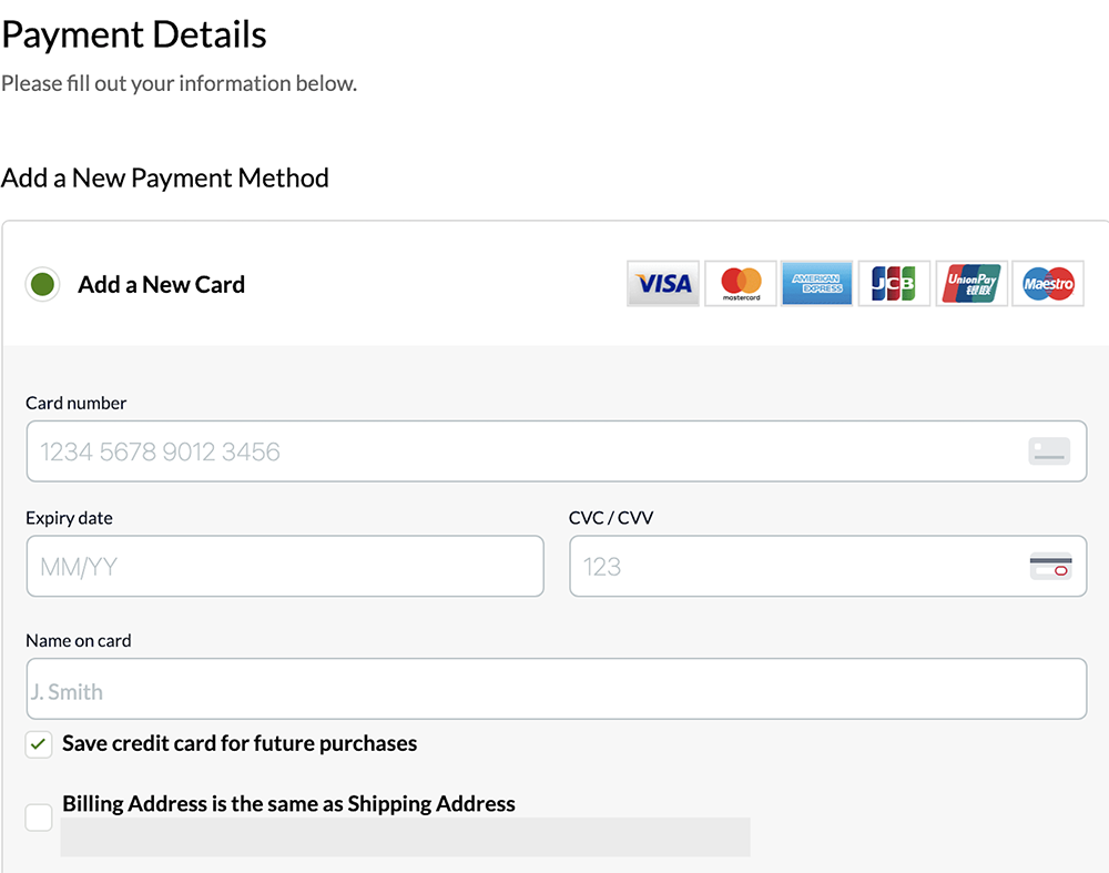 My Payment Details
