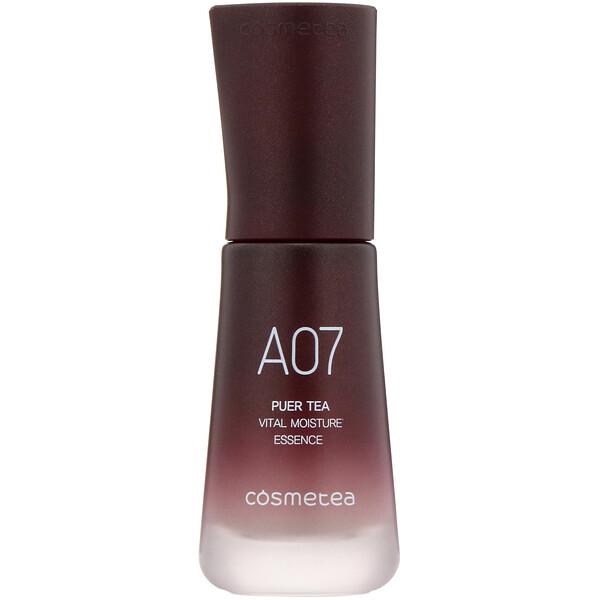 Cosmetea, Té puer, Esencia de humectación vital, 30ml (1,06oz.líq.)