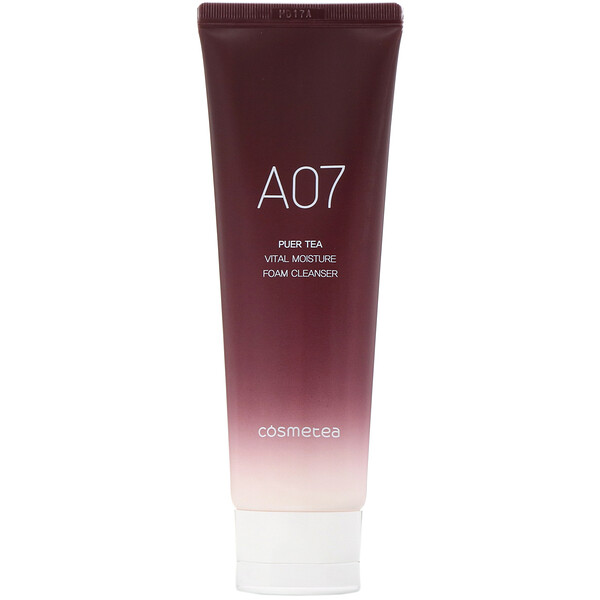 Cosmetea, Té puer, Espuma limpiadora de humectación vital, 120ml (4,23oz.líq.) (Discontinued Item)
