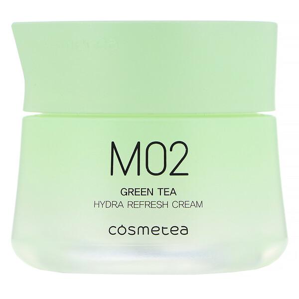 Cosmetea, Té verde, Crema hidratante y refrescante, 50g (1,76oz)