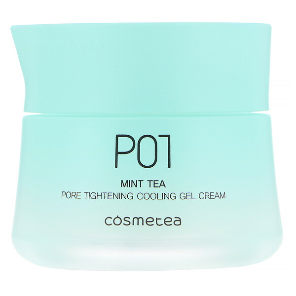 Cosmetea, Mint Tea, Pore Tightening Cooling Gel Cream, 1.76 oz (50 g)
