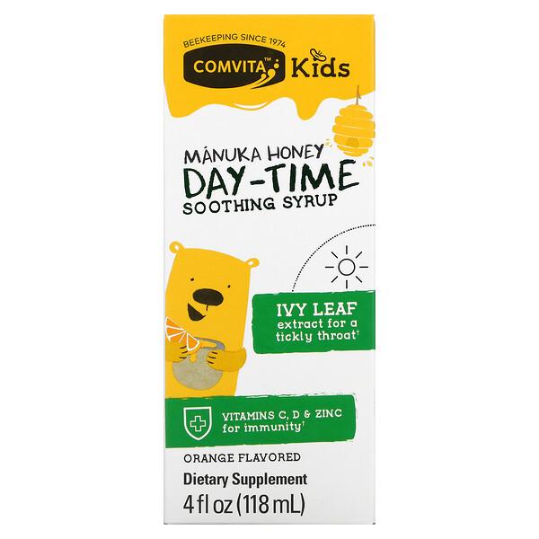 Comvita, для детей, успокаивающий сироп для приема днем, мед манука, апельсиновый вкус, 118мл (4жидк.унции)