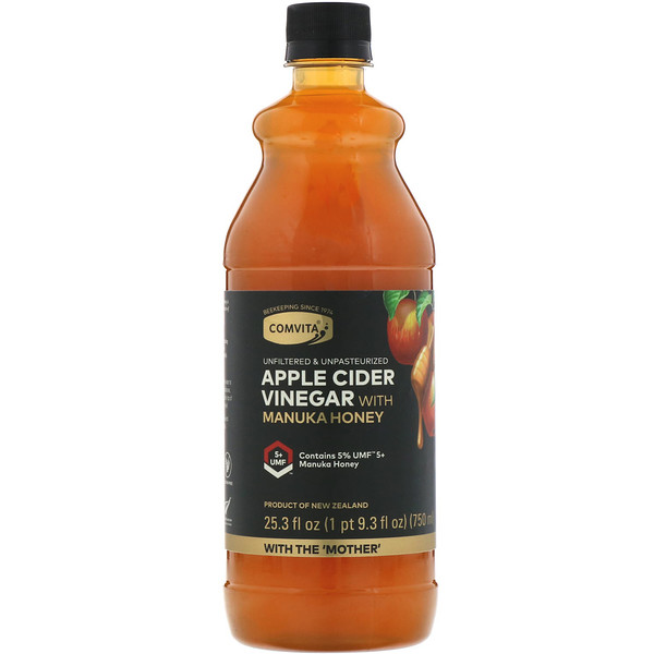 Apple Cider Vinegar with Manuka Honey, UMF 5+, 25.3 fl oz (750 ml)