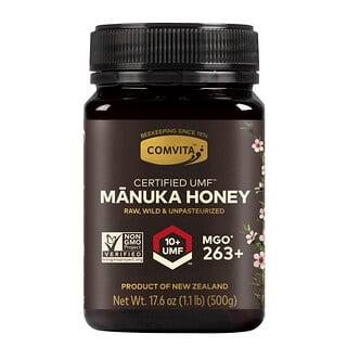 Comvita, необработанный мед манука, Certified UMF10+ (MGO263+), 500г (1,1фунта)