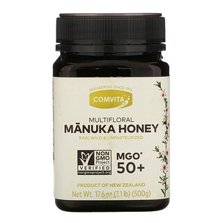 Comvita, Raw, Multifloral Manuka Honey, MGO 50+, 17.6 oz (500 g)