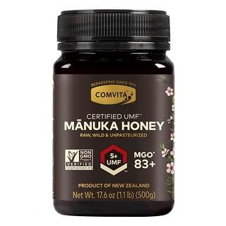 Comvita, Certified UMF5+ (MGO83+), необработанный мед манука, 500г (1,1фунта)