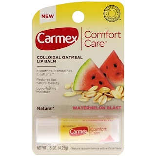 Carmex, Comfort Care Lip Balm, Watermelon Blast, .15 oz (4.25g)