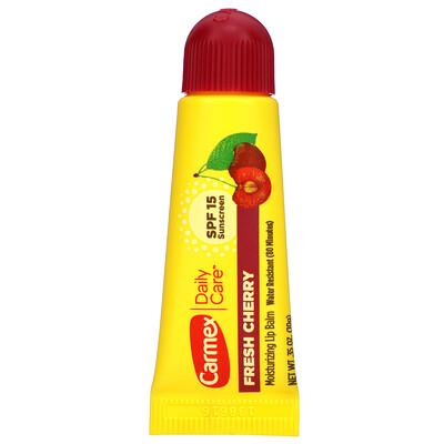 Carmex Daily Care, увлажняющий бальзам для губ, вишня, SPF15, 10г (0,35 унции)