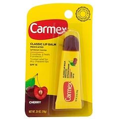 Carmex, Классический бальзам для губ, вишня, SPF 15, 0,35 унц. (10 г)