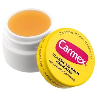 Carmex, Bálsamo labial clásico, medicinal, 0.25 onzas (7.5 g)