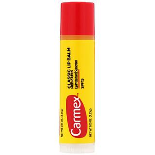 Carmex, Classic Lip Balm, Medicated, SPF 15, .15 oz (4.25 g)