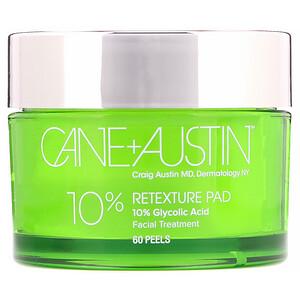 Cane + Austin, Retexture Pad, 10% Glycolic Acid, 60 Peels отзывы