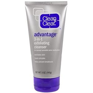 Клин энд Клир, Advantage, 3-in-1 Exfoliating Cleanser, 5 oz (141 g) отзывы