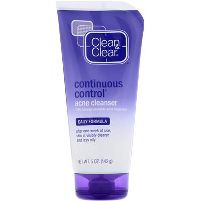 Clean & Clear Очищающее средство против угрей для постоянного контроля, ежедневная формула, 5 унций (142 г)  - купить со скидкой