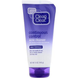 Clean & Clear, Очищающее средство против угрей для постоянного контроля, ежедневная формула, 5 унций (142 г)