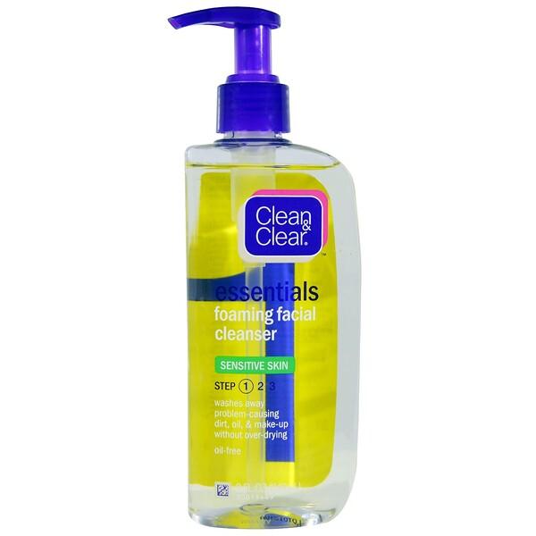 Clean & Clear, Essentials, Foaming Facial Cleanser, 8 fl oz (240 ml) (Discontinued Item)