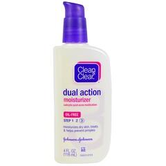 Clean & Clear, 雙效保濕,水楊酸痘痘藥膏,4液量盎司(118毫升)