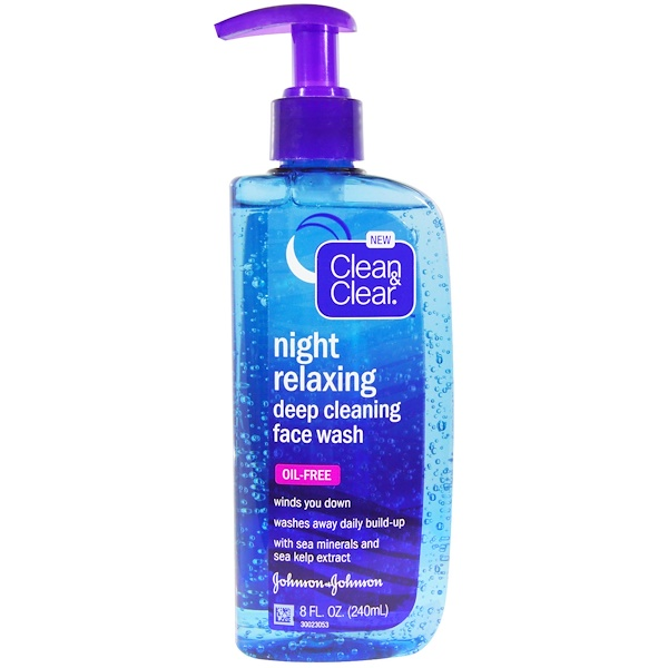 Clean & Clear, Night Relaxing Deep Cleaning Face Wash, 8 fl oz (240 ml) (Discontinued Item)