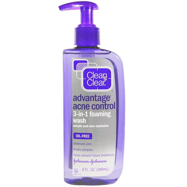 Clean & Clear, Advanced Acne Control 3-in-1 Foaming Wash, 8 fl oz (240 ml) (Discontinued Item)