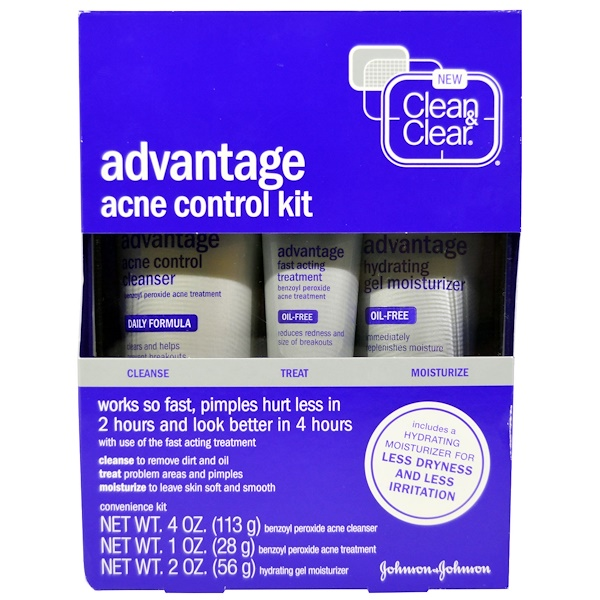Clean & Clear, Advantage Acne Control Kit, 3 Piece Kit (Discontinued Item)