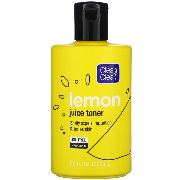 Clean & Clear, Lemon Juice Toner, 7.5 fl oz (222 ml)