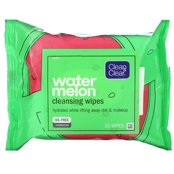 Watermelon Cleansing Wipes, 25 Wipes